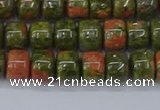 CRB2507 15.5 inches 6*8mm rondelle unakite gemstone beads