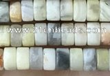 CRB2558 15.5 inches 2*4mm heishi crazy lace agate beads wholesale