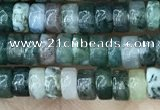 CRB2559 15.5 inches 2*4mm heishe moss agate beads wholesale