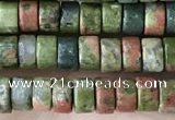 CRB2565 15.5 inches 2*4mm heishe unakite beads wholesale
