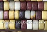 CRB2574 15.5 inches 2*4mm heishe mookaite beads wholesale