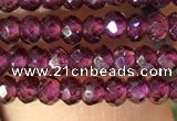 CRB2600 15.5 inches 2*3mm faceted rondelle red garnet beads