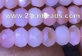 CRB2616 15.5 inches 3*4mm faceted rondelle pink opal beads