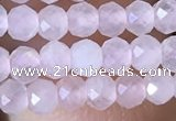 CRB2622 15.5 inches 2*3mm faceted rondelle rose quartz beads