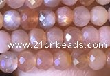 CRB2625 15.5 inches 2*3mm faceted rondelle moonstone beads