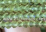 CRB2637 15.5 inches 2*3mm faceted rondelle peridot gemstone beads