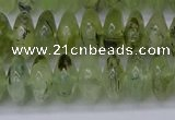 CRB265 15.5 inches 5*12mm rondelle green rutilated quartz beads
