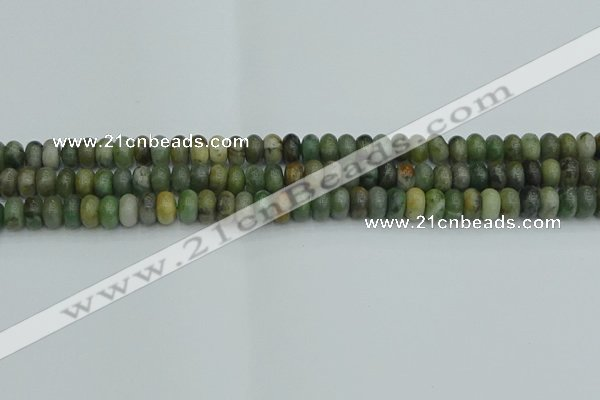 CRB2830 15.5 inches 4*6mm rondelle jade gemstone beads