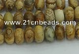 CRB2855 15.5 inches 4*6mm rondelle sesame jasper beads