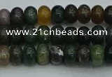 CRB2865 15.5 inches 4*6mm rondelle Indian agate beads