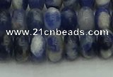 CRB2882 15.5 inches 6*10mm rondelle sodalite beads wholesale