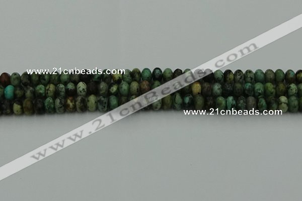 CRB2900 15.5 inches 4*6mm rondelle African turquoise beads