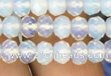 CRB3029 15.5 inches 4*6mm faceted rondelle opal beads wholesale