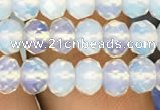 CRB3030 15.5 inches 6*8mm faceted rondelle opal beads wholesale