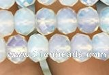 CRB3031 15.5 inches 7*10mm faceted rondelle opal beads wholesale