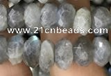 CRB3049 15.5 inches 5*8mm faceted rondelle labradorite beads