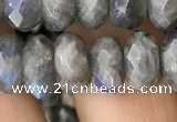CRB3050 15.5 inches 6*10mm faceted rondelle labradorite beads
