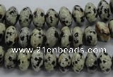 CRB31 15.5 inches 6*10mm rondelle dalmatian gemstone beads