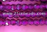 CRB3112 15.5 inches 2*3mm faceted rondelle tiny garnet beads