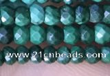CRB3128 15.5 inches 2*3mm faceted rondelle tiny malachite beads