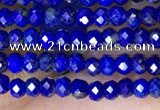 CRB3130 15.5 inches 2*3mm faceted rondelle tiny lapis lazuli beads
