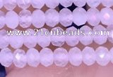 CRB3140 15.5 inches 2.5*4mm faceted rondelle tiny white moonstone beads