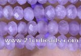 CRB3146 15.5 inches 2.5*4mm faceted rondelle tiny lavender amethyst beads