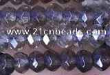 CRB3152 15.5 inches 2.5*4mm faceted rondelle tiny smoky quartz beads