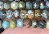 CRB3168 15.5 inches 2.5*4mm faceted rondelle tiny turquoise beads