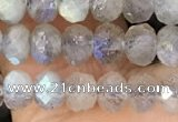 CRB3211 15.5 inches 3.5*5mm faceted rondelle labradorite beads