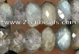 CRB3213 15.5 inches 5*10mm faceted rondelle labradorite beads
