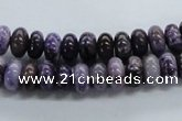 CRB38 15.5 inches 5*8mm rondelle dogtooth amethyst beads