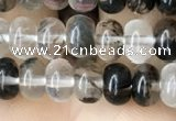 CRB4033 15.5 inches 4*6mm rondelle black watermelon beads wholesale