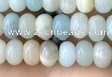 CRB4036 15.5 inches 4*6mm rondelle amazonite beads wholesale