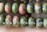 CRB4037 15.5 inches 4*6mm rondelle unakite beads wholesale