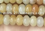 CRB4038 15.5 inches 4*6mm rondelle yellow jade beads wholesale