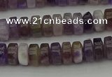 CRB404 15.5 inches 5*8mm rondelle amethyst gemstone beads