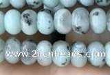 CRB4048 15.5 inches 4*6mm rondelle sesame jasper beads wholesale