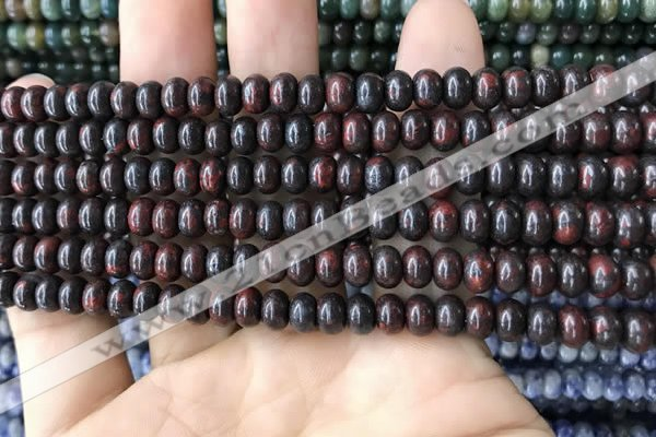 CRB4057 15.5 inches 4*6mm rondelle brecciated jasper beads wholesale