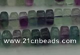 CRB406 15.5 inches 5*8mm rondelle fluorite gemstone beads