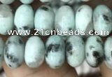 CRB4075 15.5 inches 5*8mm rondelle sesame jasper beads wholesale