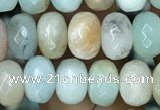 CRB4100 15.5 inches 4*6mm faceted rondelle amazonite beads