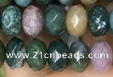 CRB4120 15.5 inches 5*8mm faceted rondelle Indian agate beads