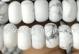 CRB5000 15.5 inches 4*6mm rondelle matte white howlite beads wholesale