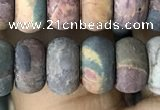 CRB5062 15.5 inches 5*8mm rondelle matte picasso jasper beads