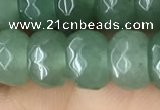 CRB5156 15.5 inches 5*8mm faceted rondelle green aventurine beads