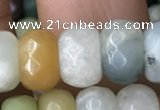 CRB5164 15.5 inches 5*8mm faceted rondelle amazonite beads wholesale