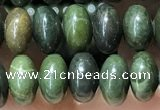 CRB5311 15.5 inches 4*6mm rondelle bronze green stone beads