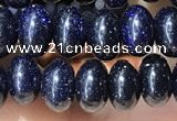 CRB5317 15.5 inches 4*6mm rondelle blue goldstone beads wholesale