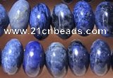 CRB5319 15.5 inches 4*6mm rondelle blue dumortierite beads